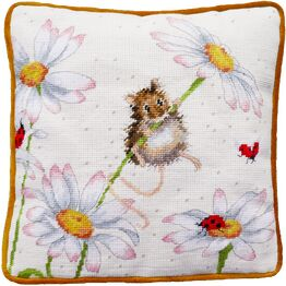 Daisy Mouse Cushion Panel Tapestry