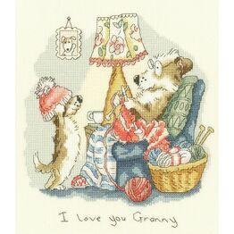I Love You Granny Cross Stitch Kit