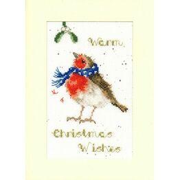Warm Wishes Cross Stitch Christmas Card Kit