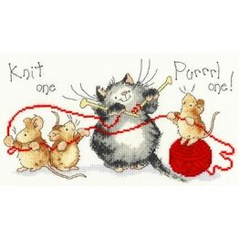 Knit One Purrrl One Cross Stitch Kit