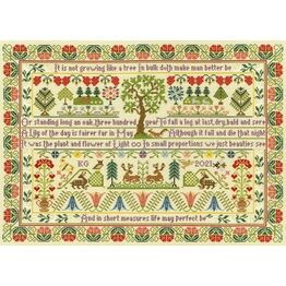Oak Tree Cross Stitch Sampler Kit