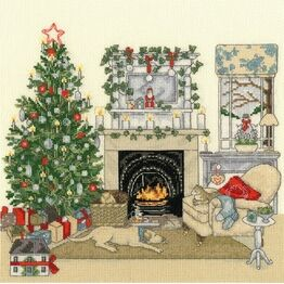 Christmas Eve At Home Cross Stitch Kit