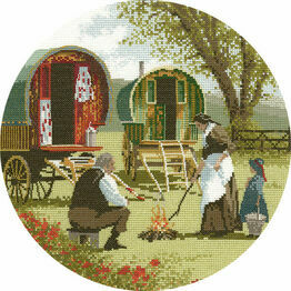 Gypsy Caravans Cross Stitch Kit