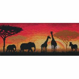 African Horizon Cross Stitch Kit