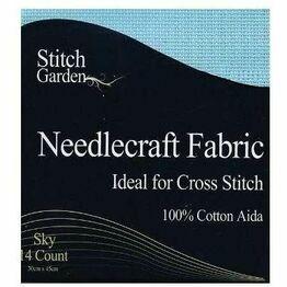 Stitch Garden Pale Blue 14 Count Aida Fabric Pack (45 x 30cm)
