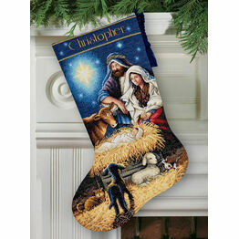 Holy Night Stocking Cross Stitch Kit