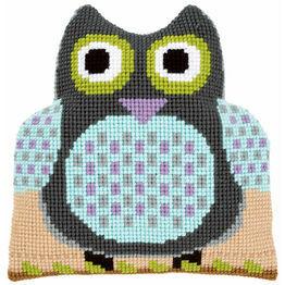 Owl Shaped Cushion Chunky Cross Stitch Kit