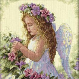 Passion Flower Angel Cross Stitch Kit