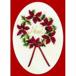Christmas Wreath Cross Stitch Card Kit