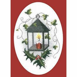 Lantern Christmas Card Cross Stitch Kit