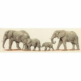 Elephant Stroll Cross Stitch Kit