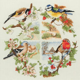 Birds & Seasons Cross Stitch Kit
