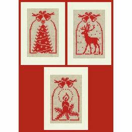 Christmas Silhouette Cross Stitch Card Kits (Set Of 3)