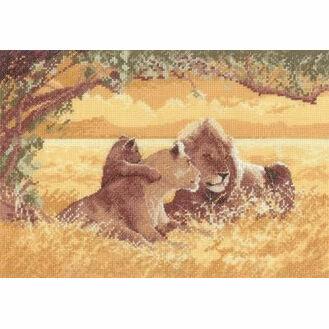 Lions Cross Stitch Kit