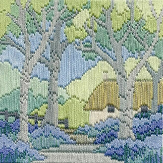 Bluebell Cottage Long Stitch Kit