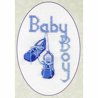 Baby Boy Cross Stitch Card Kit