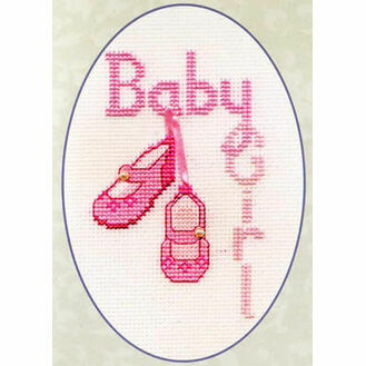 Baby Girl Cross Stitch Card Kit