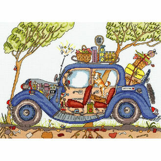 Cut Thru\' Vintage Car Cross Stitch Kit