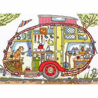 Cut Thru\' Vintage Caravan Cross Stitch Kit