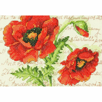 Poppy Pair Cross Stitch Kit
