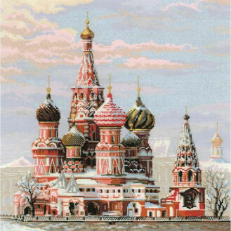 St Basil\'s Cathedral Moscow Cross Stitch Kit