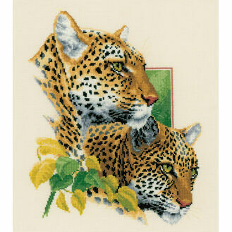 Leopard Duo Cross Stitch Kit