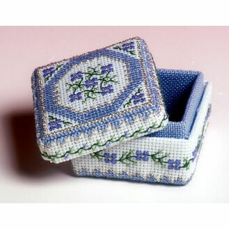 Periwinkle Box 3D Cross Stitch Kit
