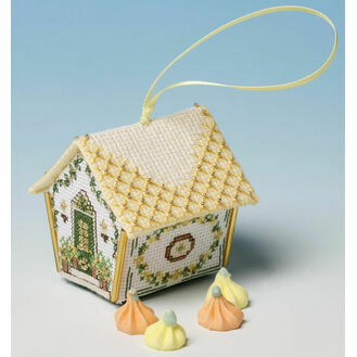 Oranges & Lemons Gingerbread House 3D Cross Stitch Kit