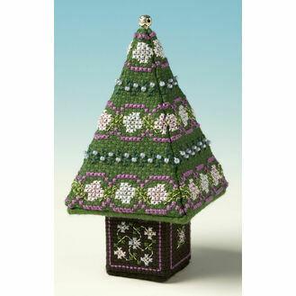 Blue & Silver Small Tree 3D Cross Stitch Kit