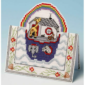 Noah\'s Ark Card 3D Cross Stitch Kit