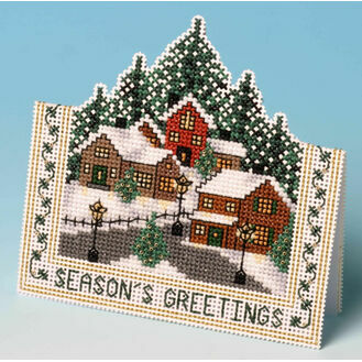 Christmas Village Card 3D Cross Stitch Kit