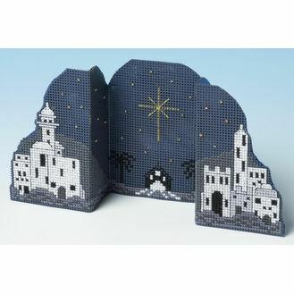 Bethlehem Night Card 3D Cross Stitch Kit