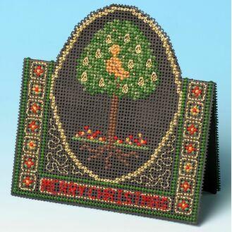 Pear Tree Card 3D Cross Stitch Kit