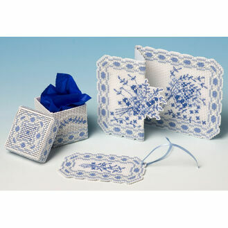 Toile de Jouy 3D Cross Stitch Gift Set Trio