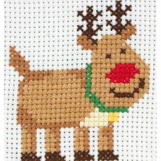 Rudolph Cross Stitch Kit