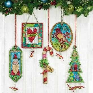 Jingle Bell Ornaments Cross Stitch Kit (Set of 5)