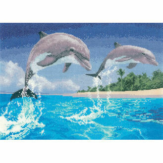 Dolphins Cross Stitch Kit