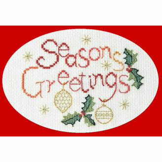Seasons Greetings Card Cross Stitch Kit