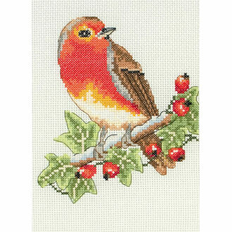 Red Robin Cross Stitch Starter Kit