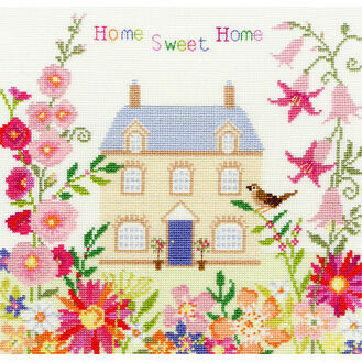 Home Sweet Home Flowers Cross Stitch Kit