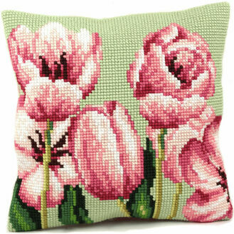 Tulip Left Cushion Panel Cross Stitch Kit