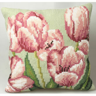 Tulip Right Cushion Panel Cross Stitch Kit