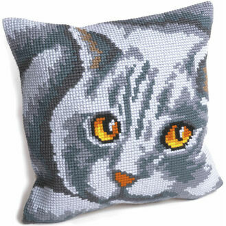 Persian Cat Cushion Panel Cross Stitch Kit