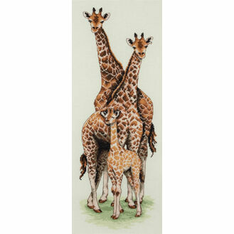 Giraffe Family Cross Stitch Kit