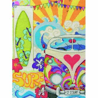 Surf Cross Stitch Kit