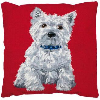 Westie Cushion Tapestry Kit