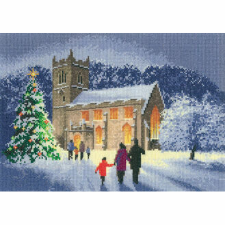 Christmas Church Cross Stitch Kit