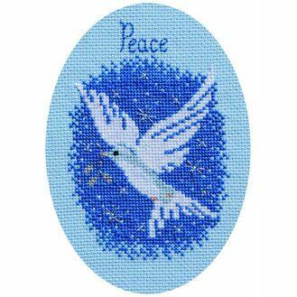 Peace On Earth Christmas Card Cross Stitch Kit