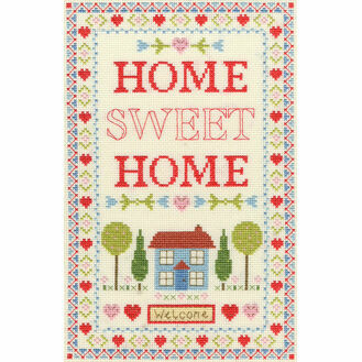 Home Sampler Cross Stitch Kit