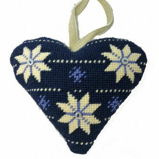 Scandinavian Lavender Heart Tapestry Kit